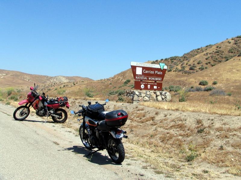 Carizzo Plain sign