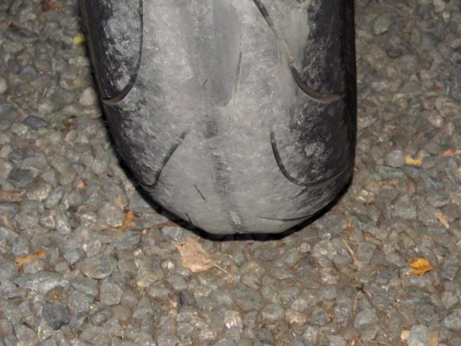 Worn tire